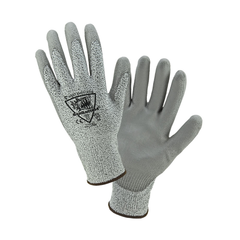 West Chester 719DGU Barracuda PU Palm Coated Speckle Gray HPPE Gloves, Gray (One Dozen)
