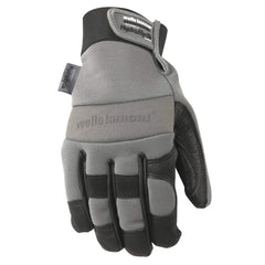 Wells Lamont 3219 Men's HydraHyde Winter Work Gloves, 60-gram Thinsulate, Spandex Back, Cowhide 12 Pairs