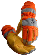 Pigskin, Heatrac, Hi-Vis, Waterproof, Boarhide Work Gloves Caiman 1356 (1 Pair) M-XL