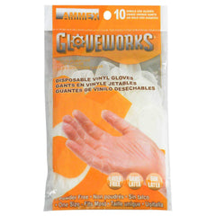 AMMEX - GWV10PK-S - Vinyl Gloves - Gloveworks - 10/pack, Disposable, Powder Free, 4 mil, Uni-size, Clear (Pack of 10)