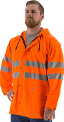 Majestic 3720 LGE Flex Jacket W/Hood Fluor Orange, Medium
