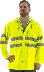 Majestic 3720 LGE Flex Jacket W/Hood Fluor Yellow, Large