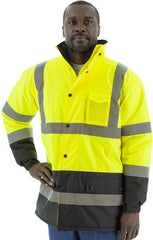 High Visibility Waterproof Parka With Polar Fleece Lining, Ansi 3, R - Majestic 75-1303