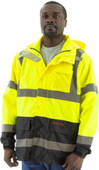 Majestic 75-1307 High Visibility Yellow/Black Parka