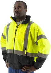 Majestic 75-1311 High Visibility Waterproof Jacket With Removable Fleece Liner, Ansi 3, R