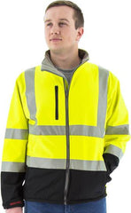 Majestic 75-1371 High Visibility Water Resistant Nylon/Spandex Softshell Jacket And Liner, Ansi 3, R