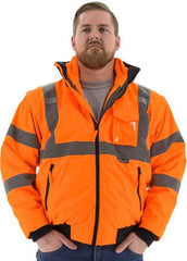 High Visibility 8-IN-1 Waterproof Jacket With High Visibility Liner, Ansi 3, R - Majestic 75-1382