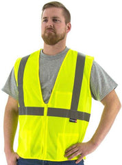 Majestic 75-3201 High Visibility Mesh Safety Vest, Ansi 2, R