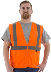 Majestic 75-3202 High Visibility Mesh Safety Vest, Ansi 2, R