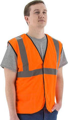 Majestic 75-3206 High Visibility Mesh Breakaway Safety Vest, Ansi 2, R