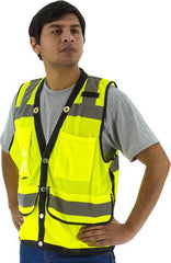 Majestic 75-3207 High Visibility Heavy Duty Mesh Safety Vest, Ansi 2, R