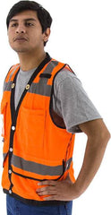 Majestic 75-3208 High Visibility Heavy Duty Mesh Safety Vest, Ansi 2, R