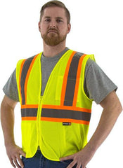 High Visibility Mesh Vest With Dot Striping, Ansi 2, R - Majestic 75-3217
