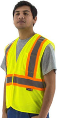 High Visibility Mesh Breakaway Vest With Dot Striping, Ansi 2, R - Majestic 75-3219