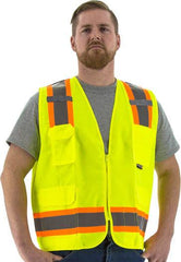 Majestic 75-3221 High Visibility With Two-Tone Dot Striping Surveyors Safety Vest, Ansi 2, R