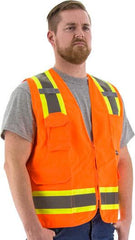 High Visibility Surveyors Vest With Two-Tonw Dot Striping, Ansi 2, R - Majestic 75-3222