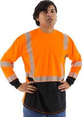 High Visibility Long Sleeve Shirt With Reflective Chainsaw Striping, Ansi 2, R - Majestic 75-5258