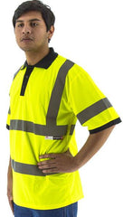Majestic 75-5311 High Visibility Short Sleeve Polo Shirt, Ansi 3, R