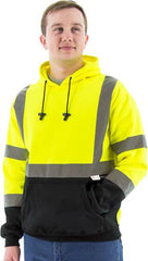 High Visibility Hooded Pullover Sweatshirt, Ansi 3, R - Majestic 75-5327