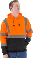 High Visibility Hooded Pullover Sweatshirt, Ansi 3, R - Majestic 75-5328