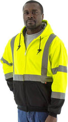 High Visibility Hooded Sweatshirt With Teflon® Fabric Protector, Ansi 3, R - Majestic 75-5331