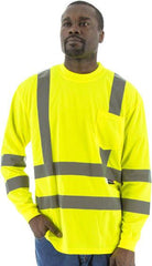 High Visibility Long Sleeve Shirt, Ansi 3, R - Majestic 75-5355