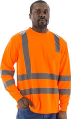 High Visibility Long Sleeve Shirt, Ansi 3, R - Majestic 75-5356
