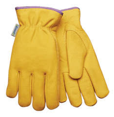 Woman's Grain Cowhide Lined Drivers Gloves Kinco 98RLW (one dozen)