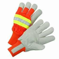 West Chester HVO1555 Hi-Vis Thinsulate Lined Leather Palms (one dozen)