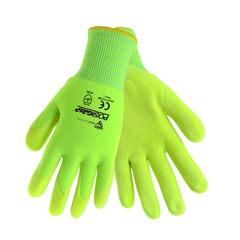 West Chester HVY715YNF PosiGrip Hi-Viz Nitrile Microfoam Air Palm Gloves (One Dozen)