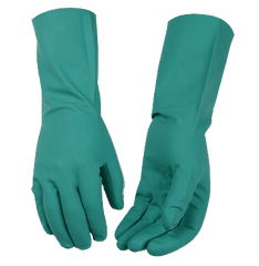 Women's Green Nitrile Gloves Kinco 2399W (one dozen)