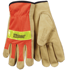 Kinco 909 Grain Pigskin, Mesh Back Gloves (one dozen)