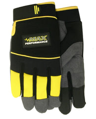 MIdwest MX425 Velcro Synthetic Padded Palm Gloves (One Dozen)