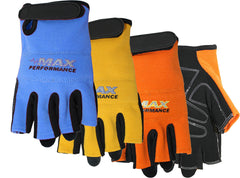 Midwest MX460 Fingerless Synthetic Padded Palm Gloves (One Dozen)