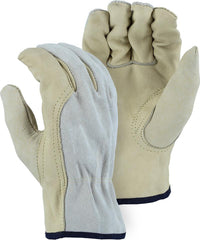 Majestic 1532B B Grade Grain Cowhide Palm & Index Finger Gloves (One Dozen)