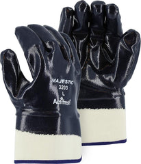 Majestic 3203 Nitrile Coated Smooth Safety Cuff  Heavy Weight Gloves