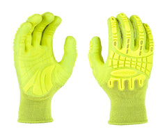 MadGrip Pro Palm Thunderdome Impact HIVS YELLOW Gloves (One Dozen)
