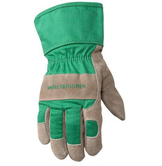 Kids Work and Garden Gloves with Safety Cuff, Children and Youth age 5 to 8, Leather Palm (Wells Lamont 952M)