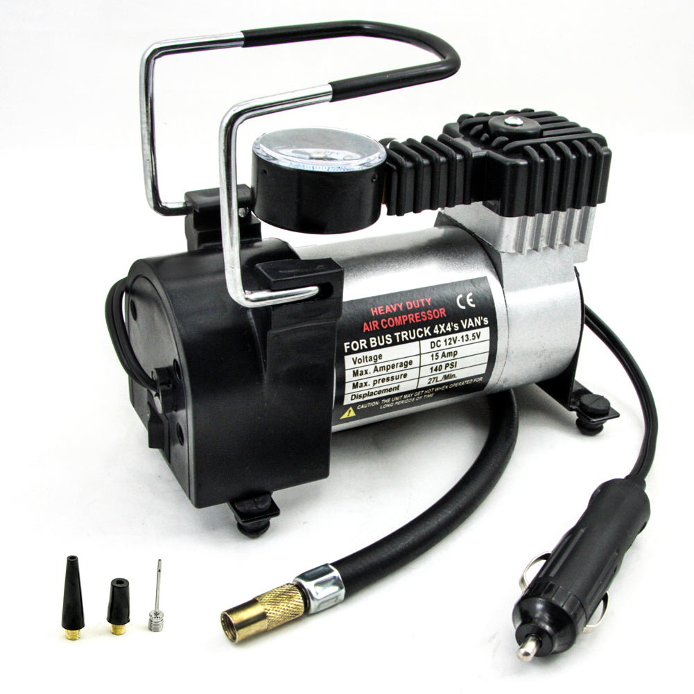 TIROL 12V 140 PSI Pump Auto Electric Portable Heavy Duty Air Compressor Tire Inflator Tool Car Care