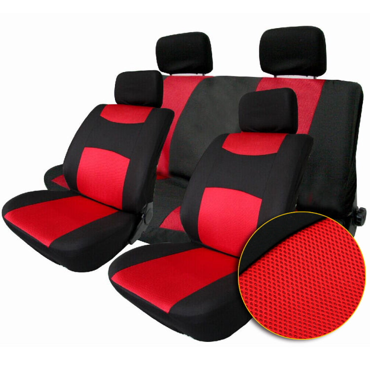 TIROL T22507b Breathable Universal Car Seat Cover Black Gray RED 10 Pcs Covers For