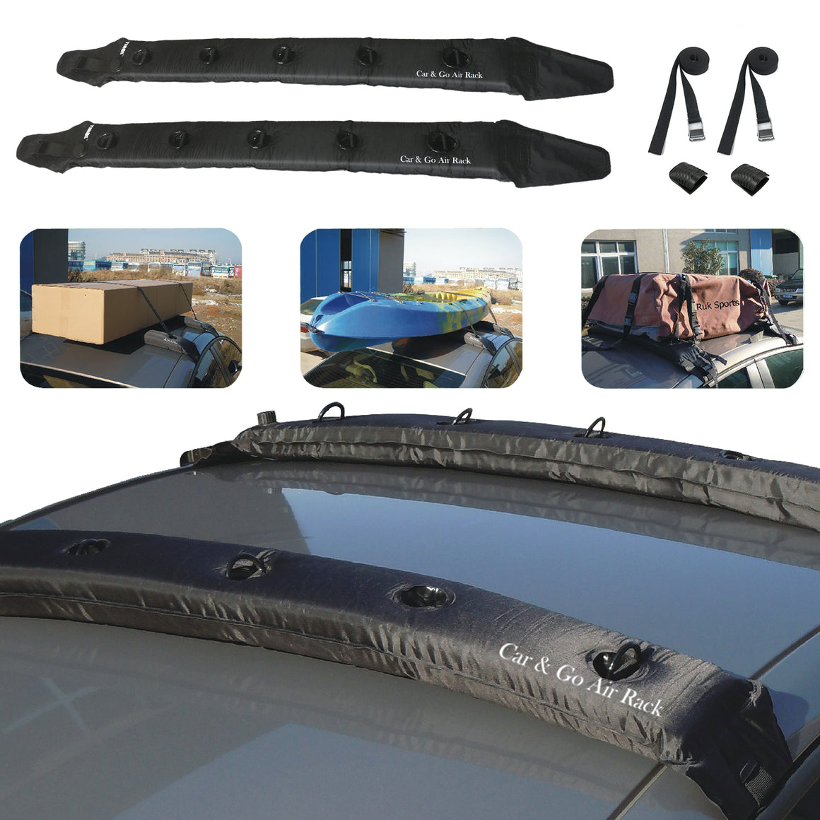 JINGJINGOLD 2PCS of Inflatable Universal Roof Top Rack and Luggage Carrier Soft Roof Rack For  SUV - TIROL LTD