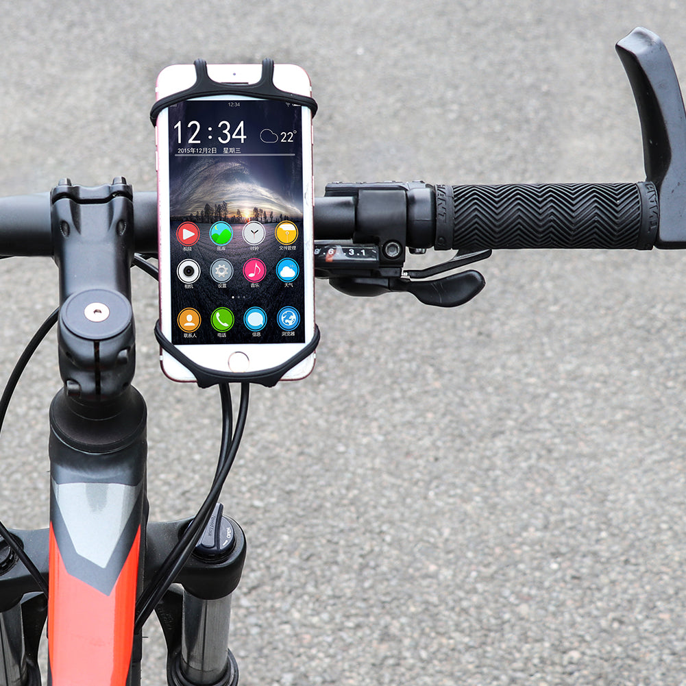 JINGJINGOLD Bicycle Phone Holder Silicone Bike Phone Mount High Elastic Universal Bicycle Handlebar Phone Holder