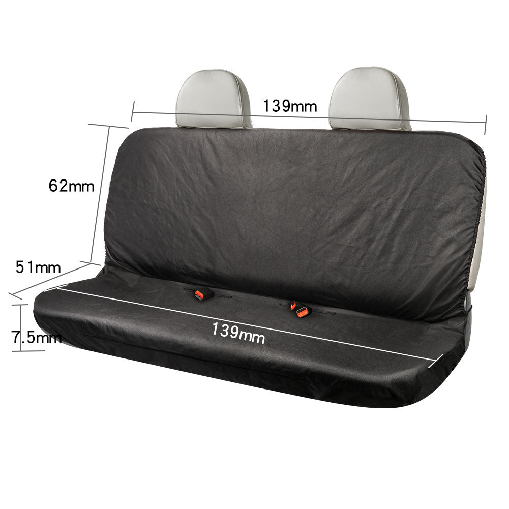 TIROL Waterproof Rear Auto Seat Cover 600D Oxford Black Seat Cushion Water Resistant Universal Fit Seat Protection
