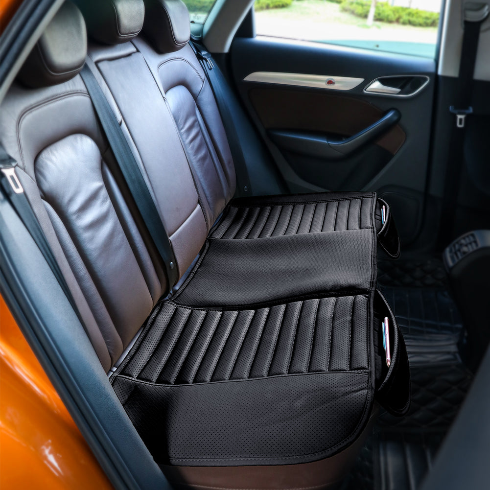 TIROL Car Rear Seat Cushion PU Leather Auto Back Seat Cover Breathable Back Cover For Vehicle Supplies Long Pad Mat