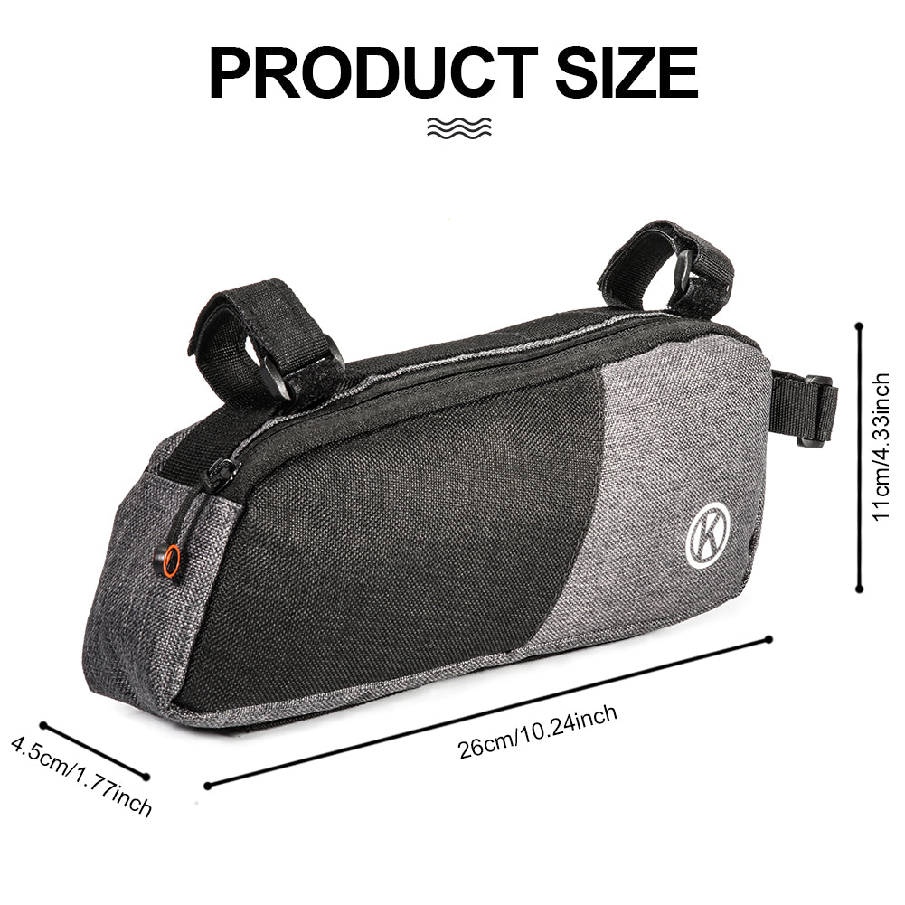 JINGJINGOLD Bicycle Triangle Bag Nylon Wearable Frame Bag Large Capacity Cycling Bag Under The Tube Bag Bike Accessories