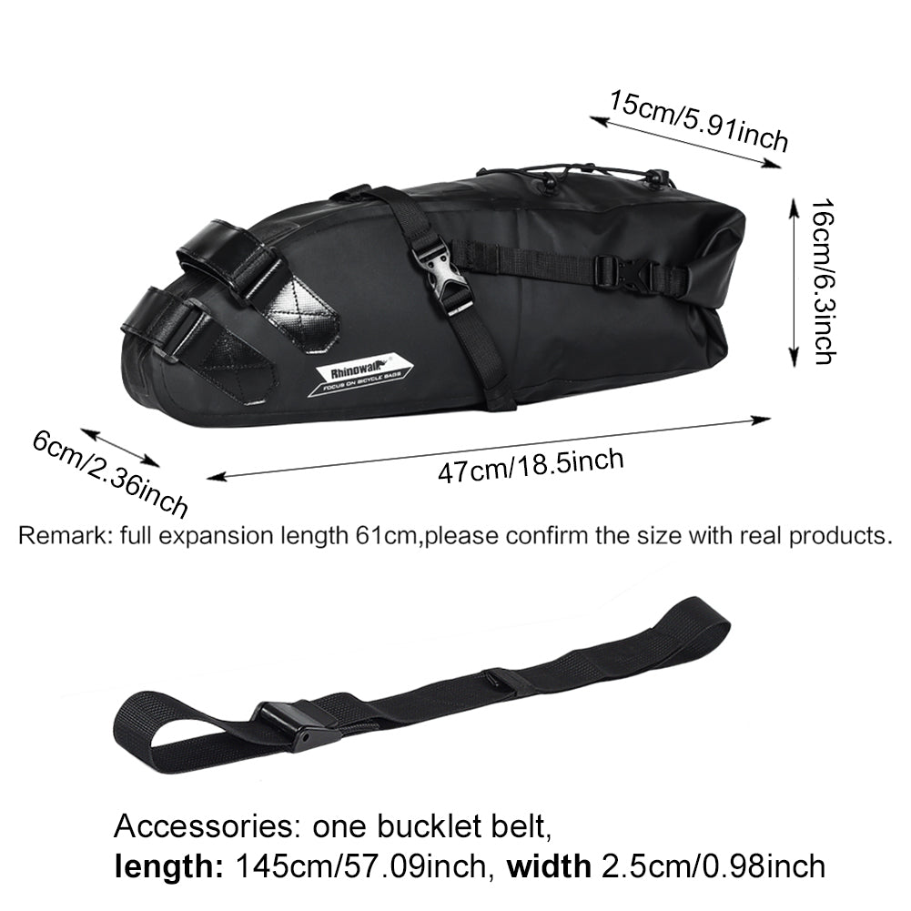 JINGJINGOLD  Waterproof Bicycle Saddle Bag Large Capacity 10L Bike Bag Oxford Cycling Under Seat Pouch Bike Cycling Bag