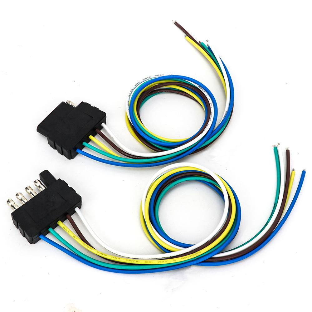 5 Way Flat Trailer Cable Set Trailer Light Wiring 18awg 24