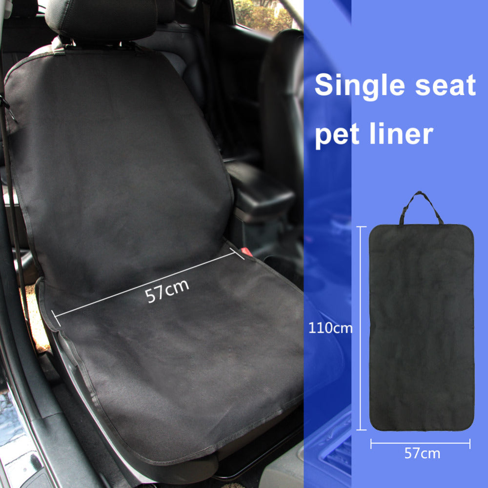 TIROL Hot Pet Seat Cover Waterproof Car Single Seat Front Cover for Dog Pet Seat Protector Black T22666b - TIROL LTD