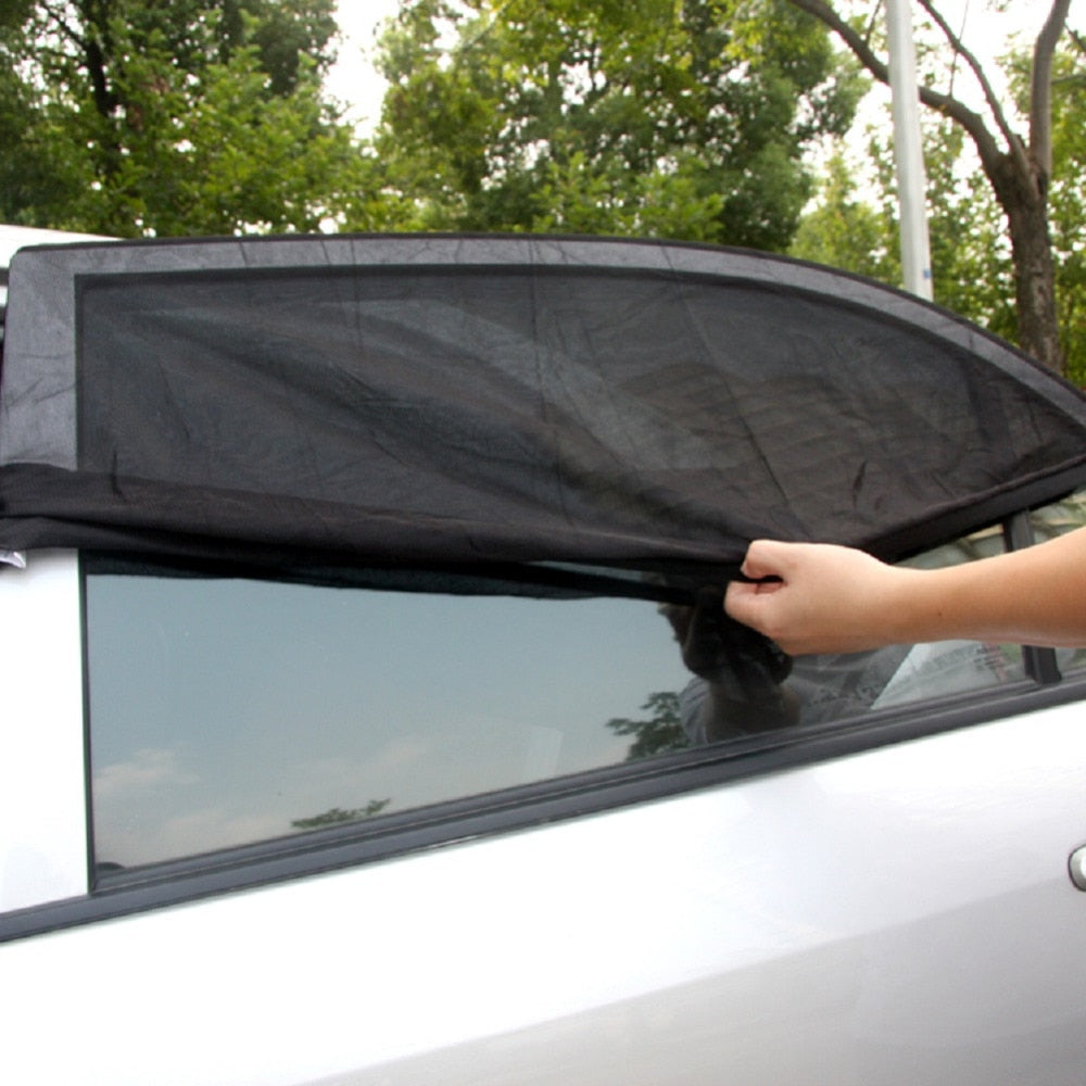 TIROL T11724b 2PC New Mesh UV Protection Car Window Rear Door\Side Sun Shades Outdoor Travel Baby SizeM: 100*53.3cm - TIROL LTD
