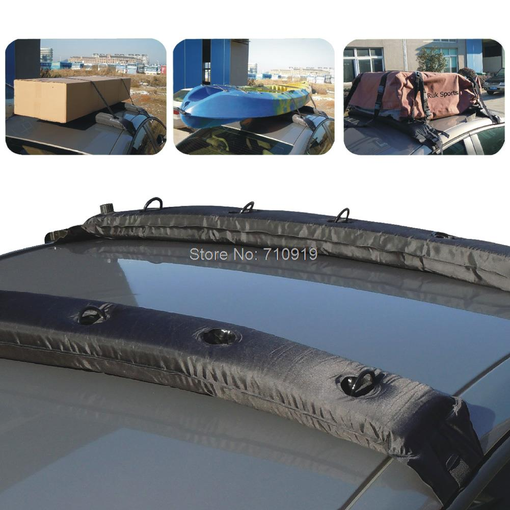 Tirol 2pcs Of Inflatable Universal Roof Top Rack And Luge Carrier Soft For Kayaks